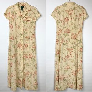 Vintage Lauren Ralph Lauren Silk Floral Maxi Dress
